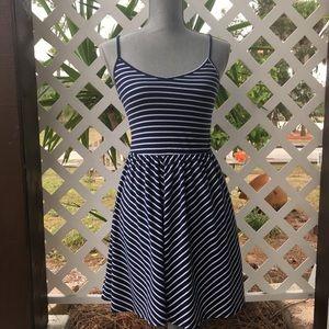 Aeropostale Navy & White Striped Mini Dress